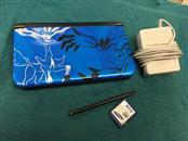 NINTENDO X&Y 3DS XL POKEMON BLUE W/ CHARGER & MEMORY CARD